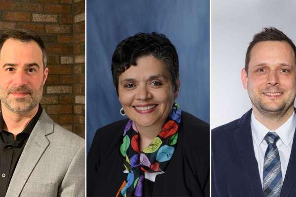 Portrait of three Fixel Institute faculty hires
