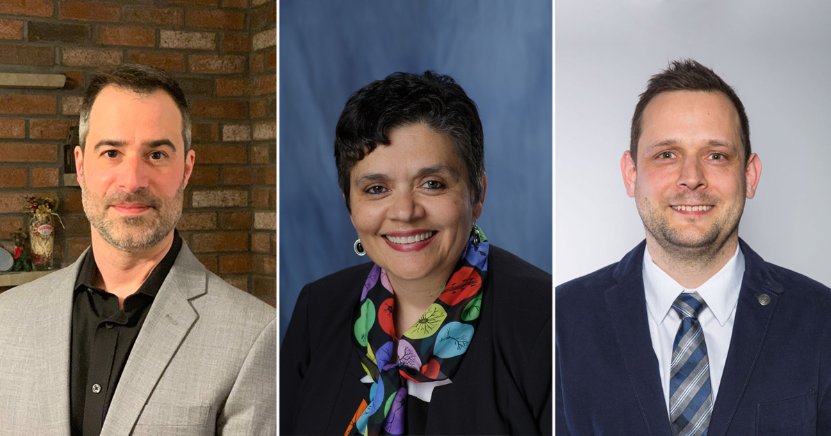 Portrait of three Fixel Institute faculty hires