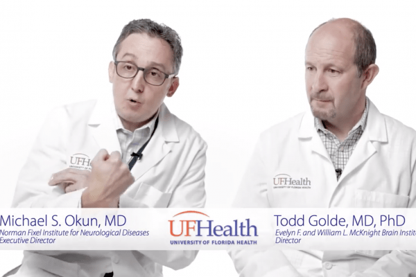 Dr. Michael Okun and Dr. Todd Golde in Dystonia Cure video