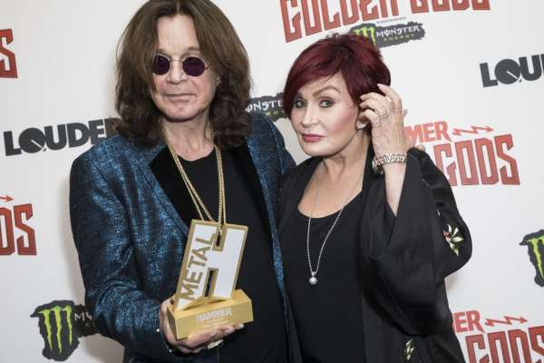 Ozzy Osborne with his wife