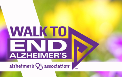 Graphic reads: Walk to End Alzheimer's