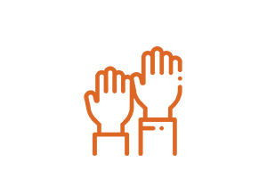 volunteer hands icon